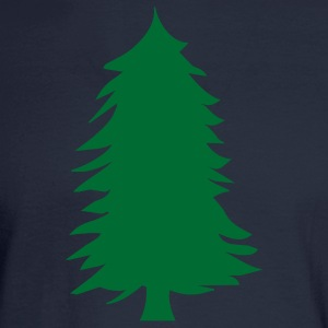 Navy green pine tree silhouette Women - Men's Long Sleeve T-Shirt