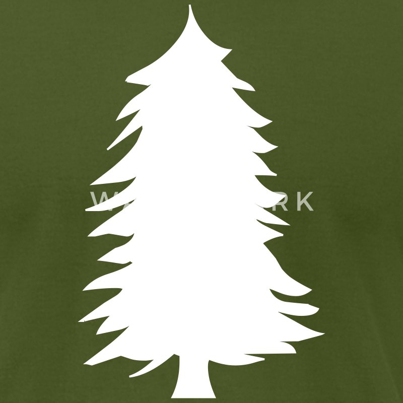 Olive green pine tree silhouette Men - Men's T-Shirt by American Apparel