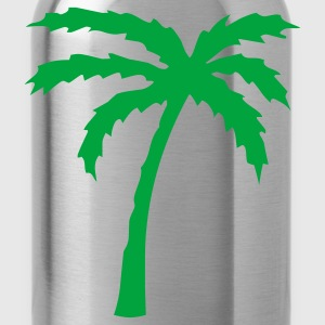 Turquoise Tropical Beach Palm tree 2  Men - Water Bottle