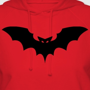 Red Scary Black Bat T-Shirts (Short sleeve) - Women's Hoodie