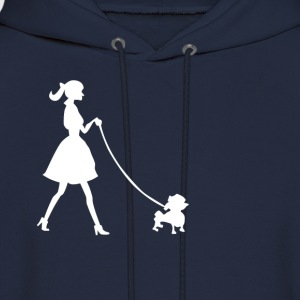 lady with dog - Men's Hoodie