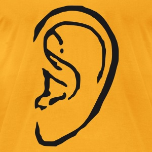 Creme ear Bags  - Men's T-Shirt by American Apparel