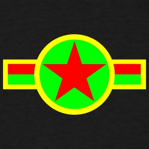 Black rasta_star_t Hoodies - Men's T-Shirt