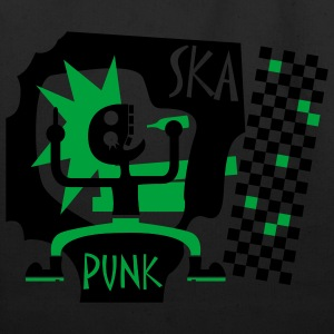 Black Skapunk T-Shirts (Short sleeve) - Eco-Friendly Cotton Tote