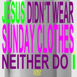 Navy ***ON SALE!*** NO SUNDAY CLOTHES -WW(whol-e.com) - Water Bottle