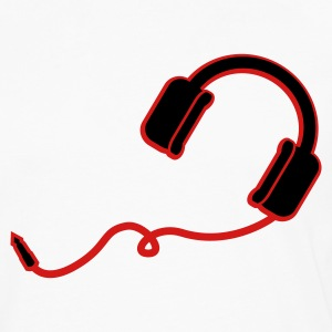 White/black headphones T-Shirts (Short sleeve) - Men's Premium Long Sleeve T-Shirt