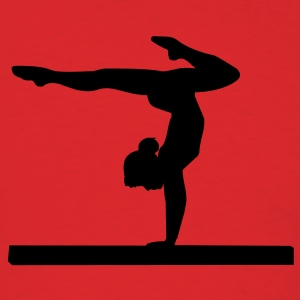 Red gymnastics female silhouette Hooded Sweatshirts - Men's T-Shirt