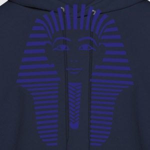 Navy King Tut 1 Color - Pharaoh Tutankhamun Women's Tees (Short sleeve) - Men's Hoodie