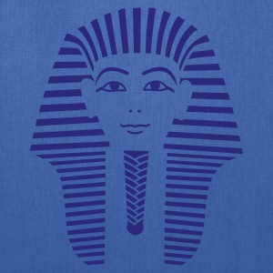 Navy King Tut 1 Color - Pharaoh Tutankhamun Women's Tees (Short sleeve) - Tote Bag