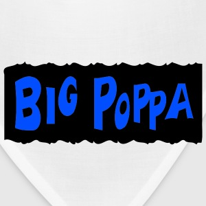 White Big Poppa With Background T-Shirts (Short sleeve) - Bandana