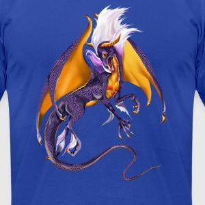 The Purple Dragon - Men's T-Shirt by American Apparel