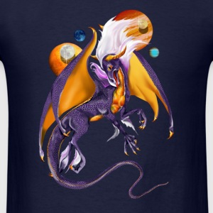 The Purple Dragon and Planets - Men's T-Shirt