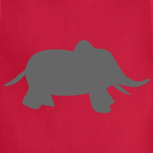 Red baby elephant Kids Shirts - Adjustable Apron