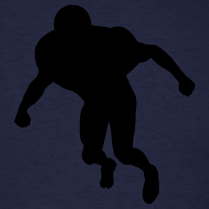 Navy football linebacker silhouette Hoodies - Men's T-Shirt