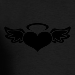 Black Angel Heart Bags  - Men's T-Shirt