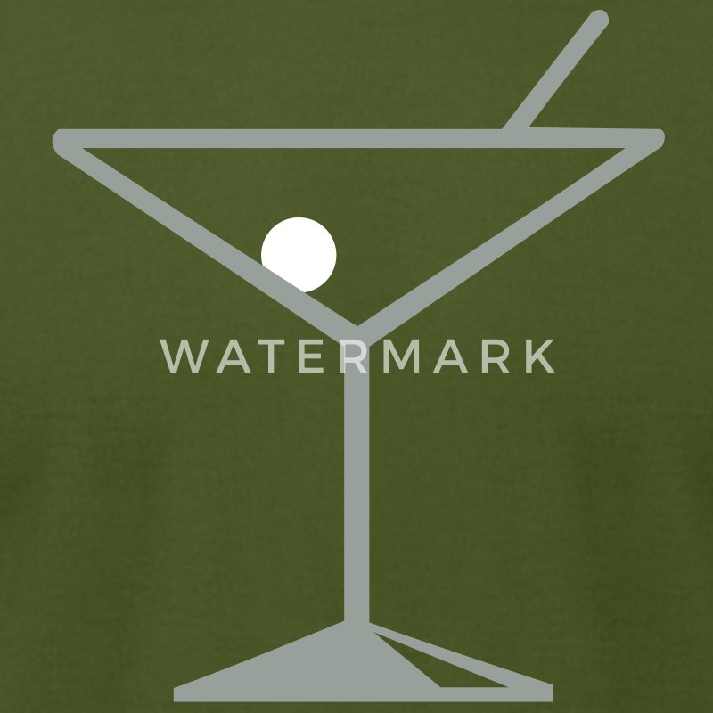 Olive martini T-Shirts (Short sleeve) - Men's T-Shirt by American Apparel