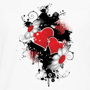 Floral heart hoodie - Men's Premium Long Sleeve T-Shirt
