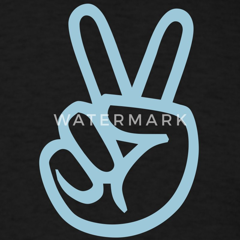 Black peace sign hand T-Shirts (Short sleeve) - Men's T-Shirt