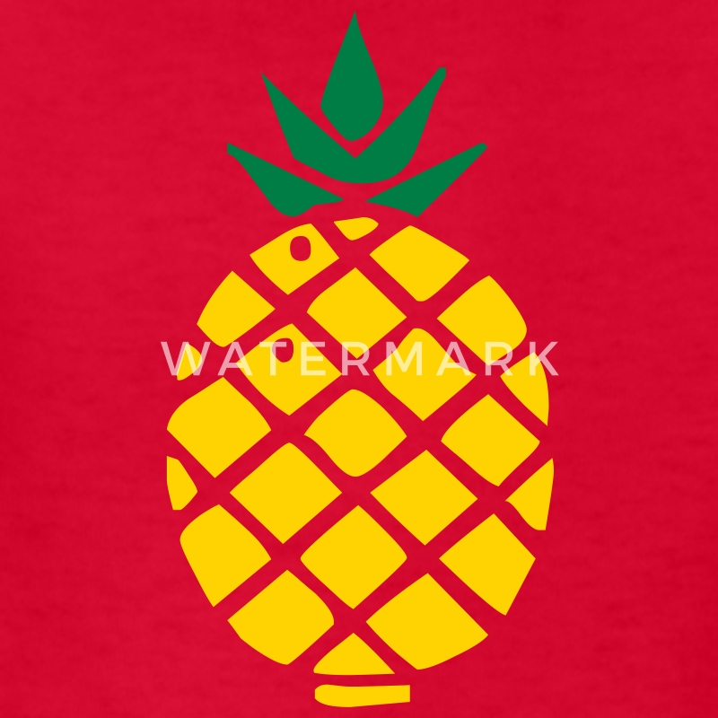 Red pineapple Kids Shirts - Kids' T-Shirt