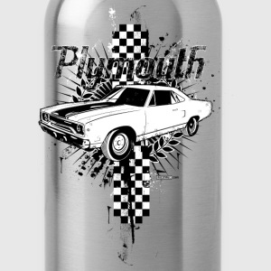 Red auto_plymouth_distressed_01 T-Shirts (Short sleeve) - Water Bottle