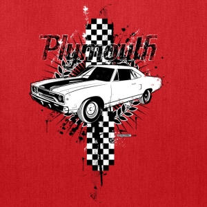 Red auto_plymouth_distressed_01 T-Shirts (Short sleeve) - Tote Bag