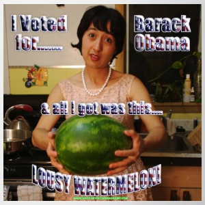 #0243 I Voted for Barack Obama & all I got was this Lousy WATERMELON! - Coffee/Tea Mug