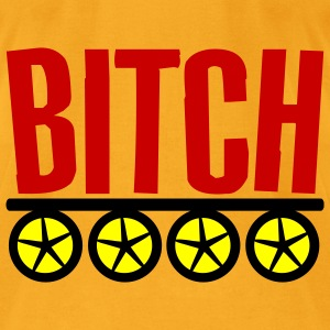 Creme Bitch On Wheels Bags  - Men's T-Shirt by American Apparel