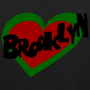 White/red Brooklyn Heart T-Shirts (Short sleeve) - Men's Premium Tank