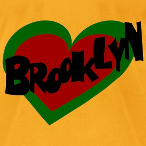 Creme Brooklyn Heart Bags  - Men's T-Shirt by American Apparel