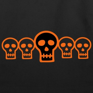 Halloween Row of Skulls - Eco-Friendly Cotton Tote