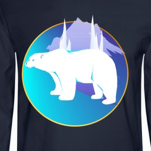 Polar Bear in A Circle  - Men's Long Sleeve T-Shirt
