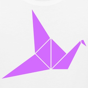 White Paper Crane T-Shirts (Short sleeve) - Men's Premium Tank