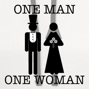 One Man, One Woman - Women's Lightweight Tee - Contrast Hoodie