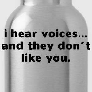 Aqua i hear voices and they don´t like you T-Shirts (Short sleeve) - Water Bottle