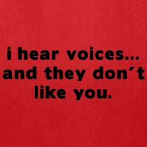 Aqua i hear voices and they don´t like you T-Shirts (Short sleeve) - Tote Bag