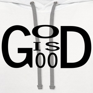 White God is good T-Shirts (Long sleeve) - Contrast Hoodie
