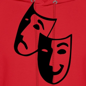Raspberry Masks - Theater - Actor Junior's Tees - Men's Hoodie