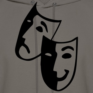 Khaki Masks - Theater - Actor T-Shirts (Short sleeve) - Men's Hoodie