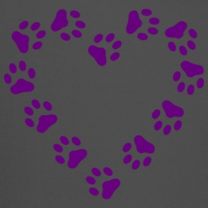 Red Paw Print Heart pawprint dog, cat, Women's Tees (Short sleeve) - Trucker Cap