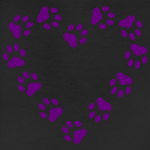 Red Paw Print Heart pawprint dog, cat, Women's Tees (Short sleeve) - Leggings
