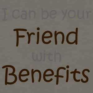 Khaki A friend with 'benefits' T-Shirts (Short sleeve) - Men's Premium Long Sleeve T-Shirt