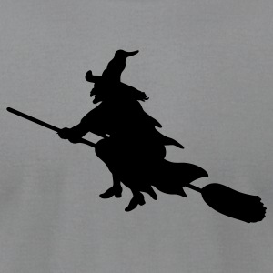 Gray witch broom Tees (Long sleeve) - Men's T-Shirt by American Apparel