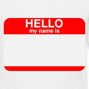 HELLO MY NAME IS _____   Kids' Shirts - Toddler Premium T-Shirt