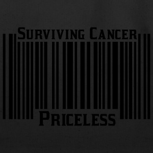 White Surviving Cancer Priceless T-Shirts - Eco-Friendly Cotton Tote