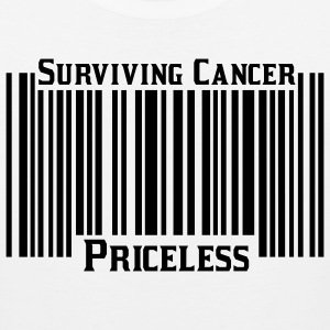 White Surviving Cancer Priceless T-Shirts - Men's Premium Tank