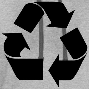 Recycle Symbol - Contrast Hoodie