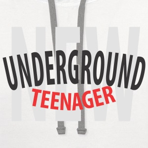 White NUT - New Underground Teenager T-Shirts (Short sleeve) - Contrast Hoodie