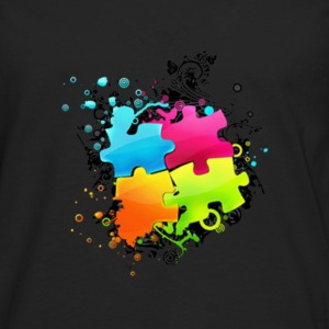 Connect The Puzzle - Men's Premium Long Sleeve T-Shirt