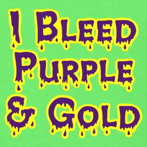 Mint green I Bleed Purple and Gold for LSU Baby Body - Men's T-Shirt