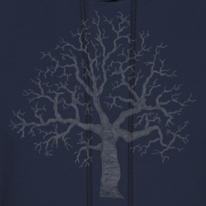 Navy Roots Tree Design Transparent Women's Tees (Short sleeve) - Men's Hoodie